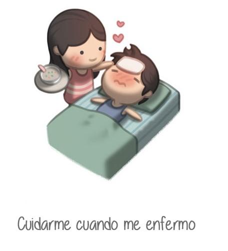 ilustración amor es cuidarme cuando me enfermo