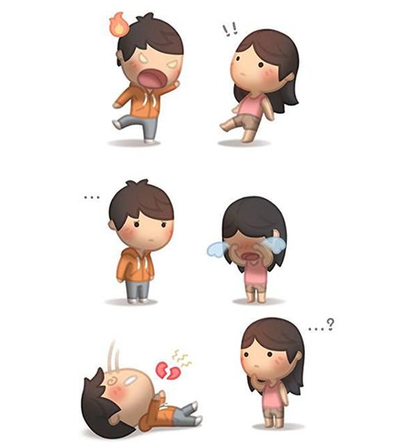 ilustración amor es pelear