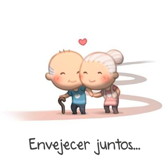 ilustración amor es envejecer juntos
