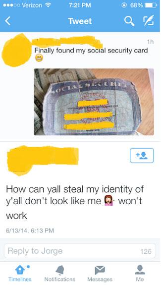 Chica sube a su Twitter una foto de su seguro social