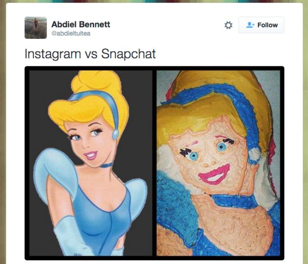 cenicienta instagram y snapchat