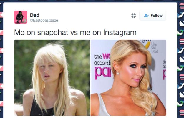 paris hilton snapchat e instagram