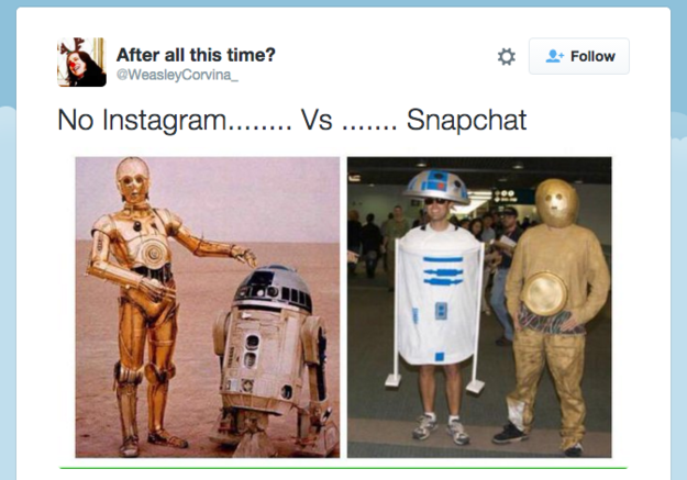 starwars snapchat vs instagram