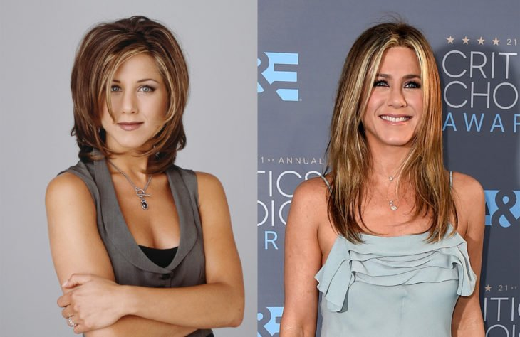 Jennifer Aniston en 1994 y en 2016