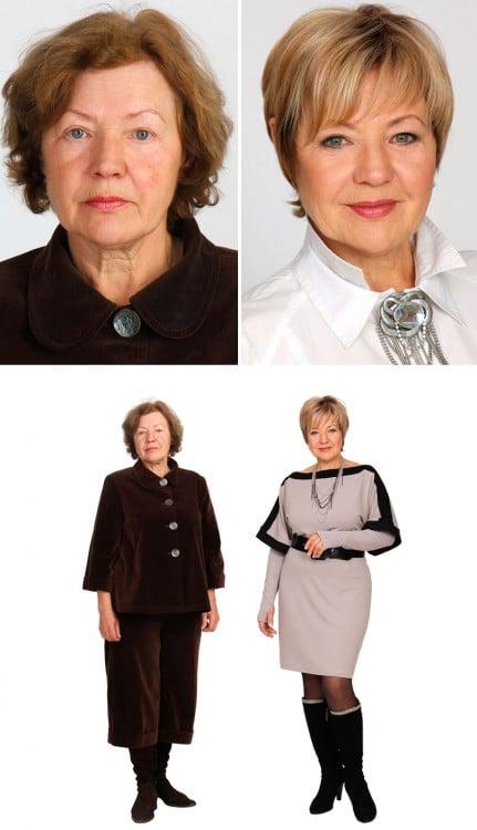 fotos antes y despues estilista ruso cambio de imagen