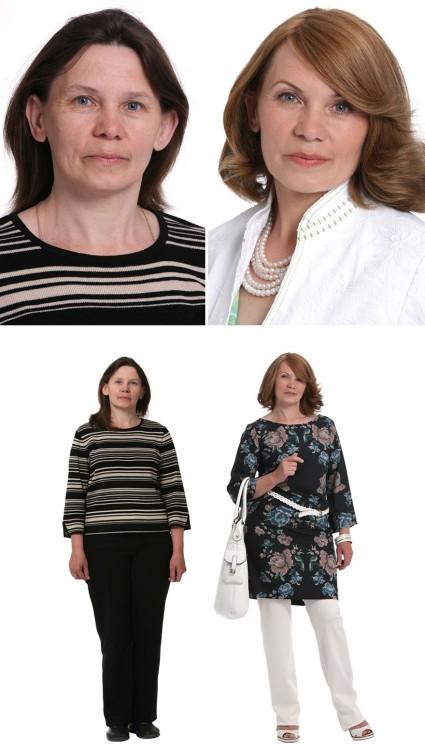 fotos antes y después cambio de imagen estilista ruso