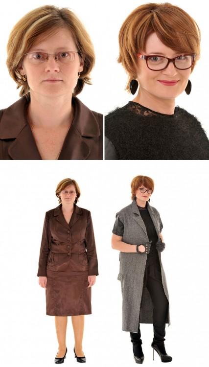antes y después cambio de imagen estilista ruso