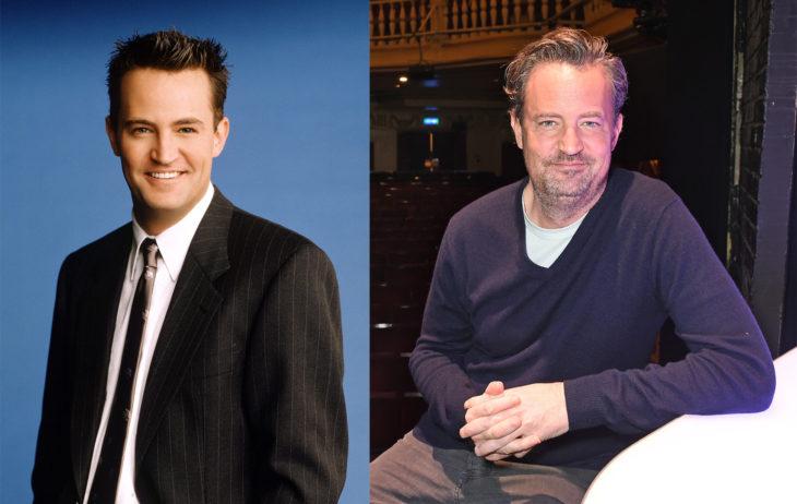 Matthew Perry en 1994 y en 2016