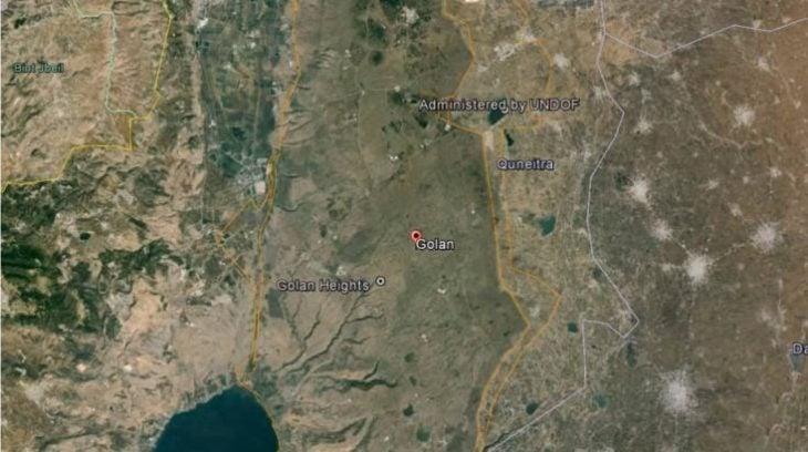 Mapa de los Altos del Golán