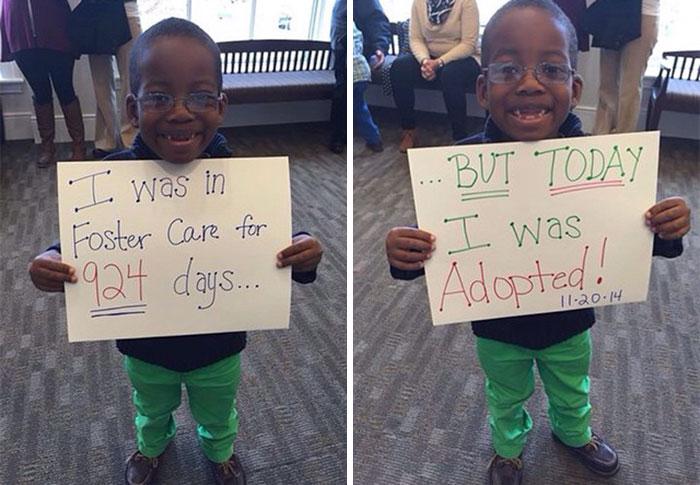Niño fue adoptado luego de 924 días