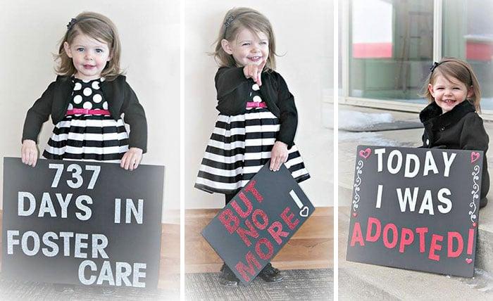 Niña fue adoptada luego de 737 días