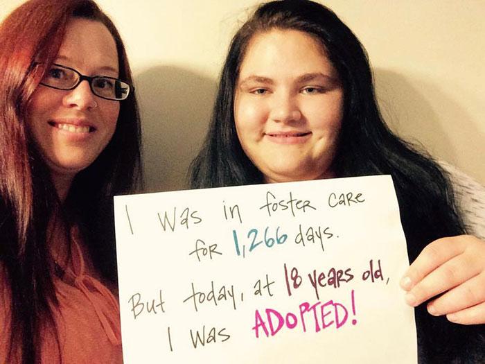 Joven de 18 años fue adoptada después de 1,266 días