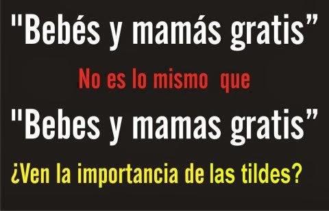 bebés y mamás gratis, bebes y mamas gratis, importancia de los acentos