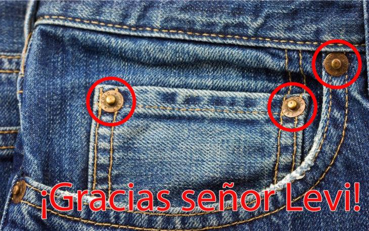 uso botones jeans señor Levi