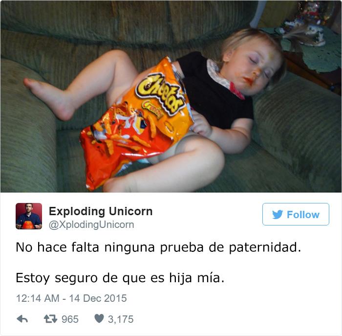 papa twitter hija cheetos paternidad