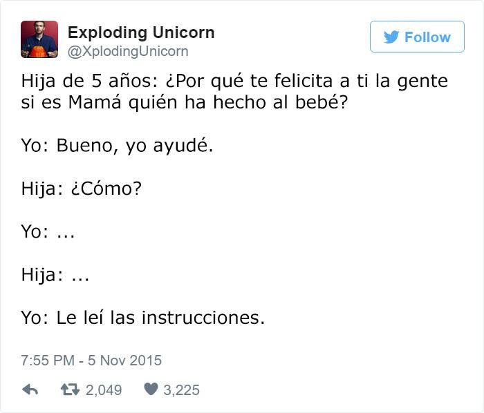papa twitter hija 5 años instrucciones