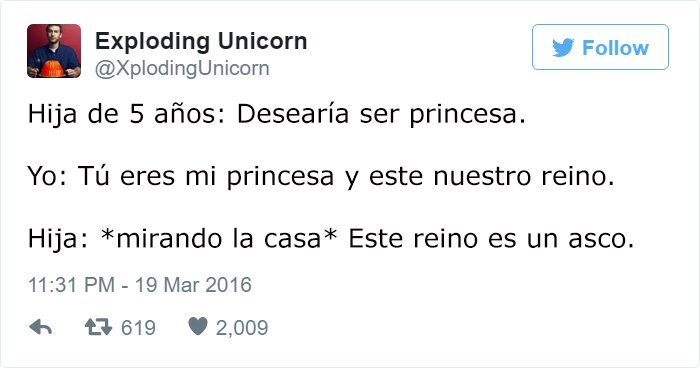 papa twitter hija 5 años pincesa