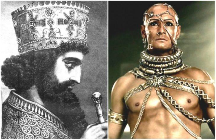 Personajes Históricos En La Vida Real. Rey Jerjes I/ Interpretado por Rodrigo Santoro en la película 300