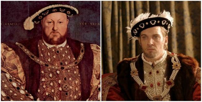 Personajes Históricos En La Vida Real. Enrique VIII interpretado por Jonathan Rhys Meyers en la serie Los Tudor
