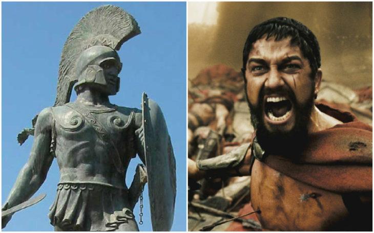 Personajes Históricos En La Vida Real. Rey Leónidas I interpretado por Gerard Butler en la película 300