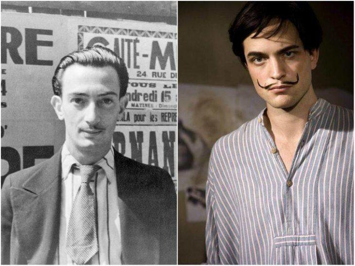 Personajes Históricos En La Vida Real. Salvador Dalí interpretado por Robert Pattinson en la película Sin límites
