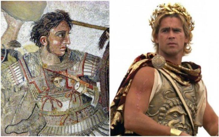 Personajes Históricos En La Vida Real. Alejandro Magno interpretado por Colin Farrell