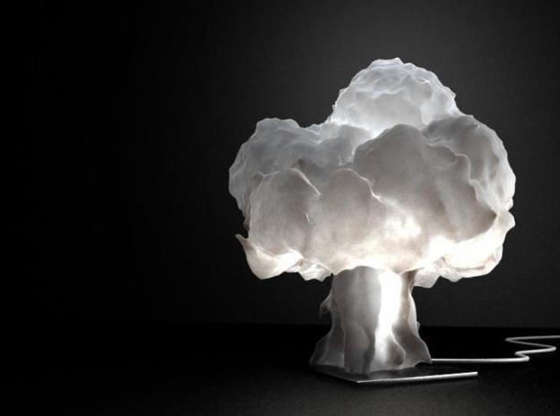 lámpara 3D que simula una explosión nuclear