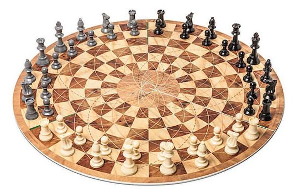 tablero de ajedrez para tres jugadores