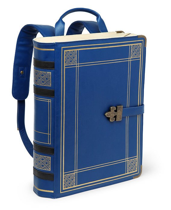 mochila que parece un libro