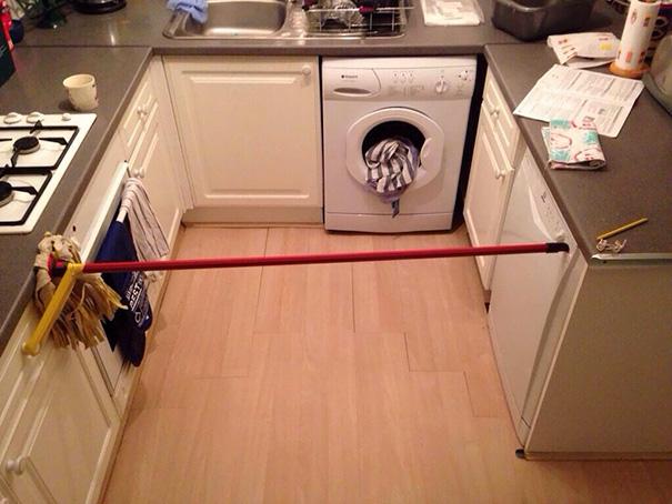 trapeador para detener puerta de lavavajillas
