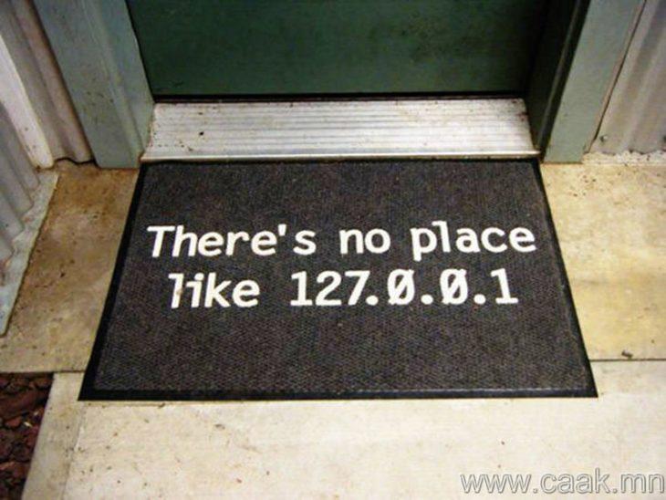 tapete puerta, no hay lugar como 127.0.0.1