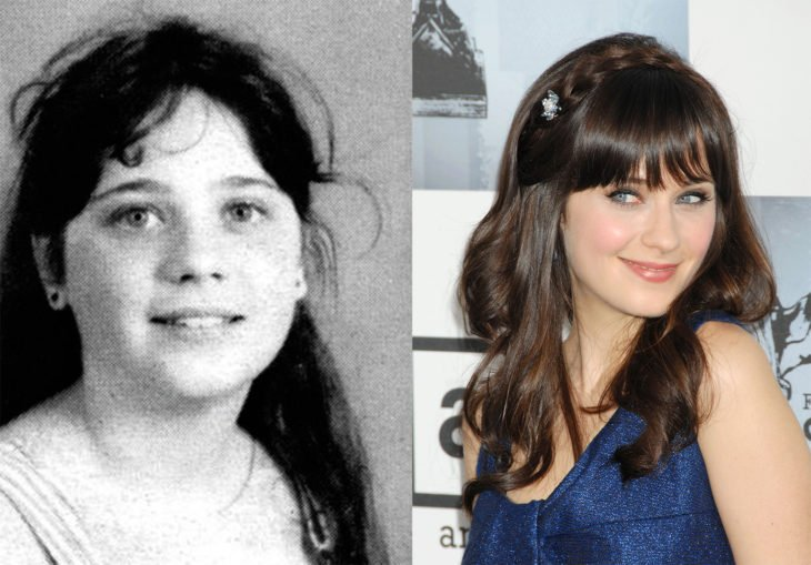 zooey deschanel - antes y ahora