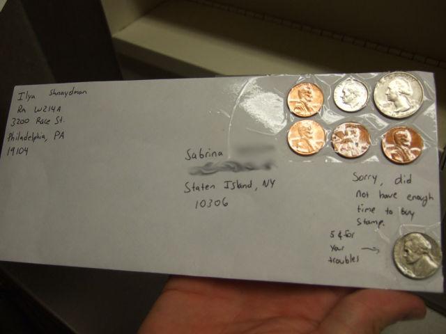 centavos en carta