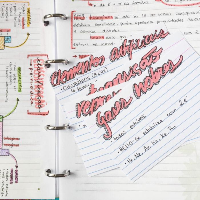 Apuntes organizados e inspiradores. Notas de química