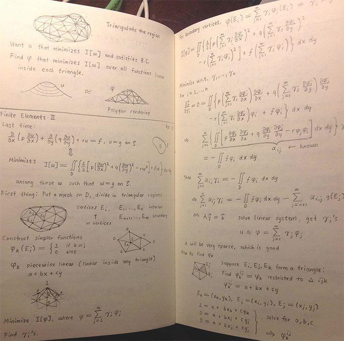 cuaderno con apuntes perfectamente ordenados