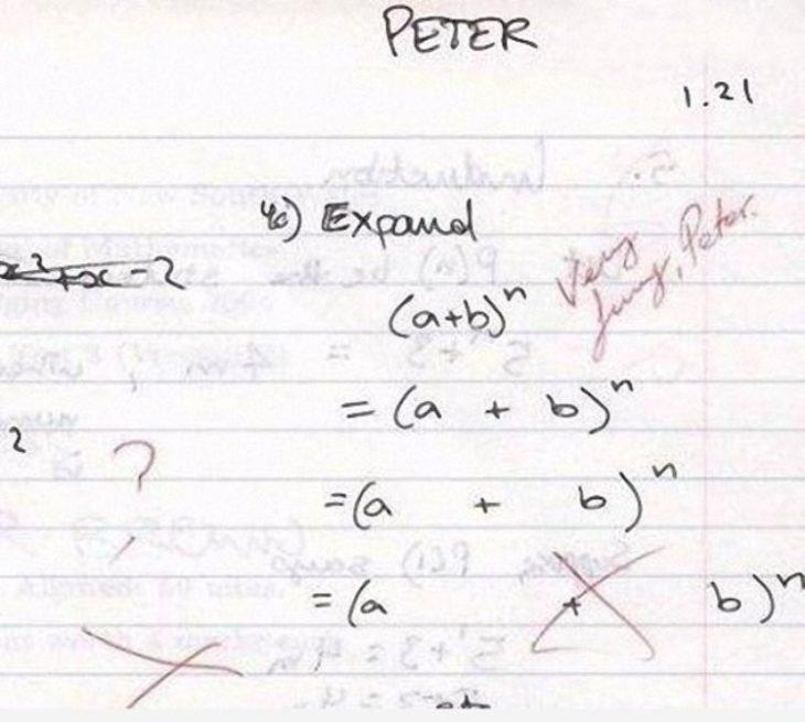 imagen de un ejercicio de matemáticas