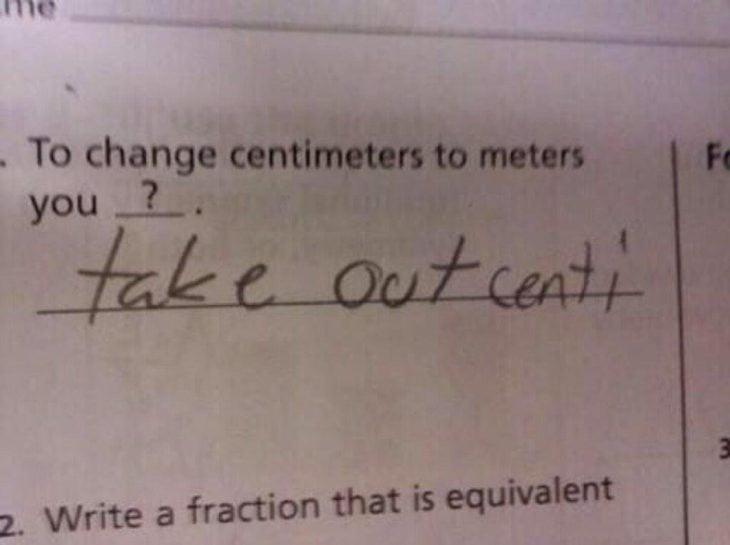 respuesta divertida a una pregunta de un examen