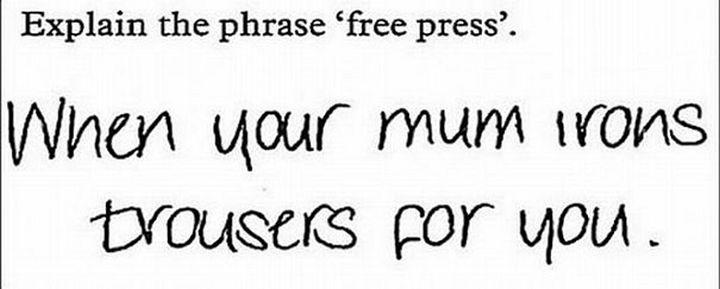 respuestas de exámenes que te harán llorar de risa