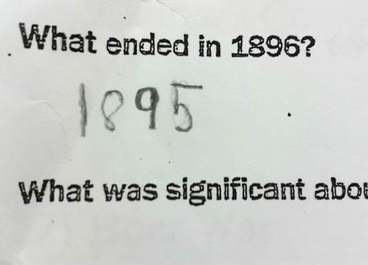 foto de una pregunta de un examen