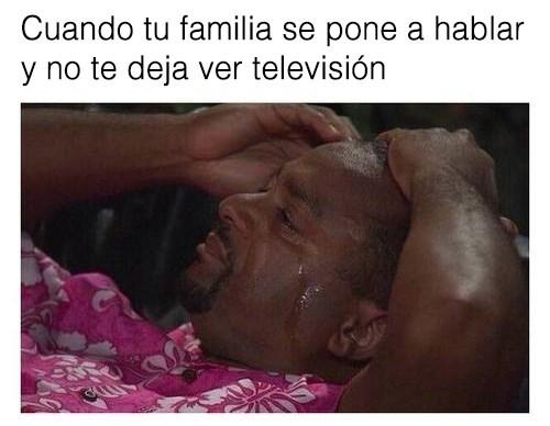 Cuando no se puede ver la televisión en familia