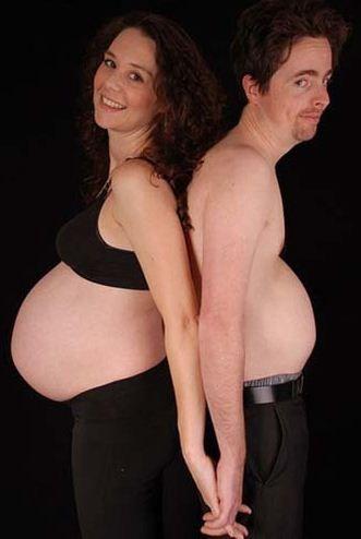 embarazada con su pareja embarazado