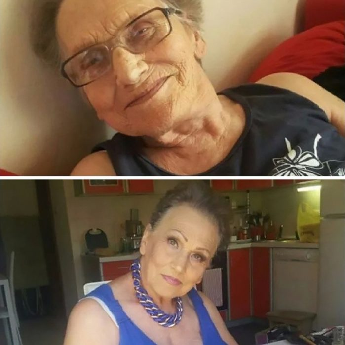 abuela antes y después