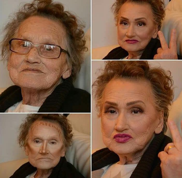 abuela en el proceso de contorno
