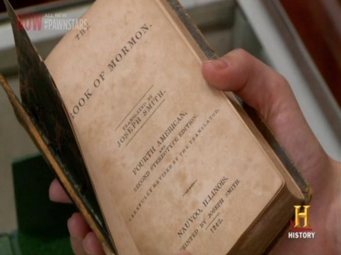 libro mormón vendido en el precio de la historia por 24,000 dólares