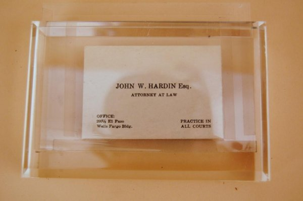 Tarjeta de John Wesley Hardin vendida por 10,000 dólares