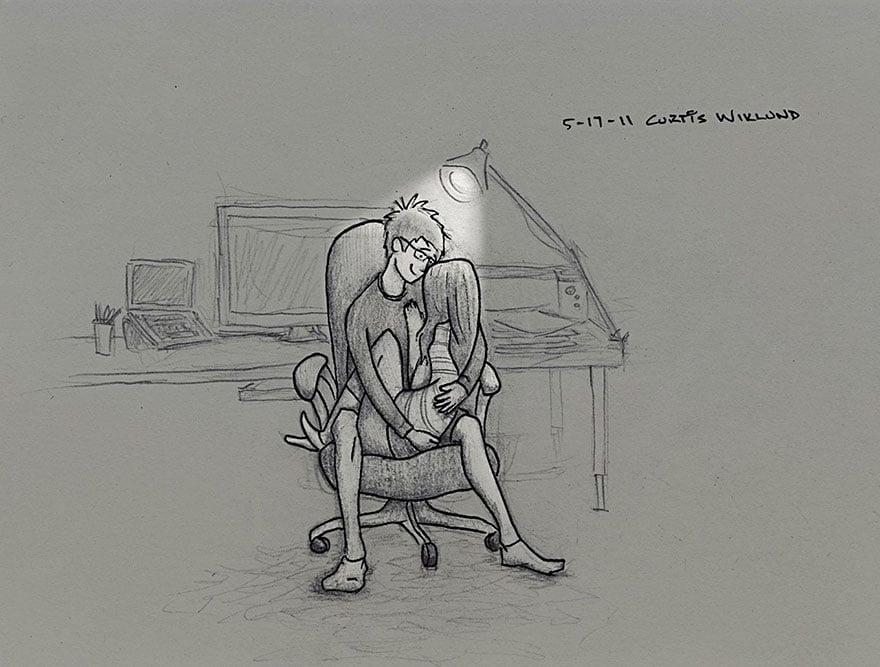 Curtis wiklund dibuj 365 d as de la vida con su esposa for What to draw today
