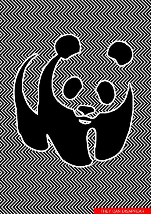 Ilja Klemencov creó una ilusión óptica de un panda