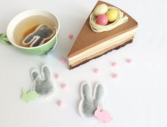 bolsita de té de conejo de pascua