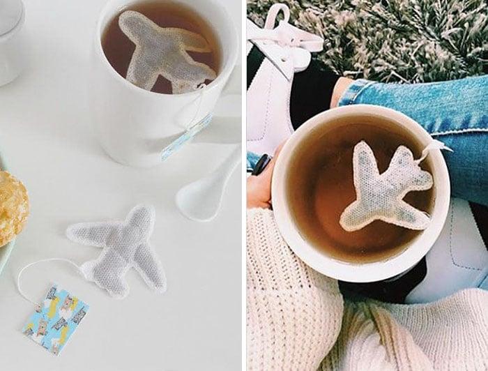 Bolsita de té de avioncito
