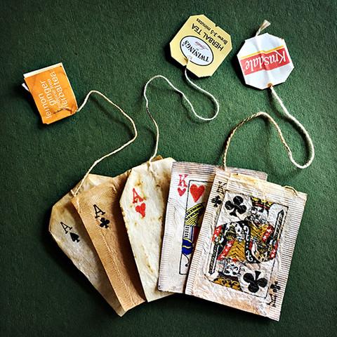 bolsas de té con cartas estilo joker